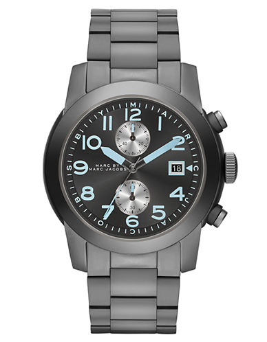 MARC BY MARC JACOBSMens Larry Gunmetal-Tone Stainless Steel Chronograph Watch