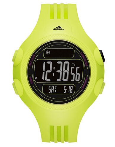 ADIDASMens Questra Matte Lime Digital Chronograph Watch