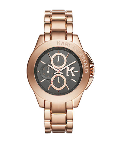 KARL LAGERFELD Karl Energy Rose Gold-Tone Chronograph Watch