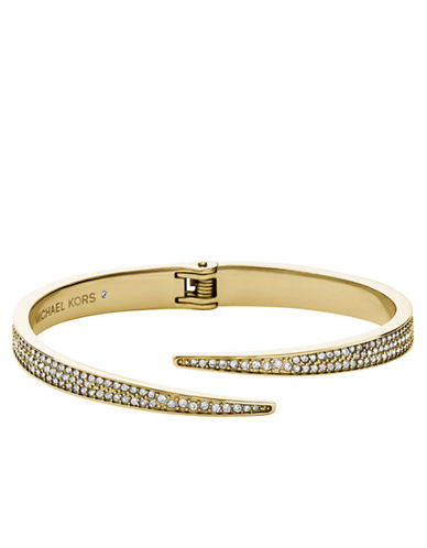 MICHAEL KORS Gold Tone and Crystal Matchstick Cuff Bracelet
