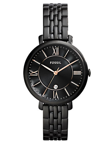 FOSSILLadies Black Plated Stainless Steel Watch