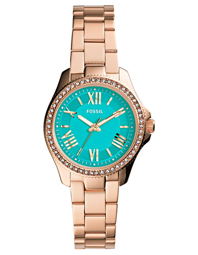 FOSSIL Ladies Cecile Small Rose Gold-Tone Watch