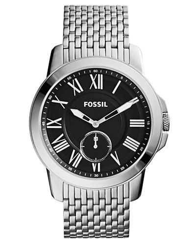 FOSSILMens Grant Stainless Steel Watch
