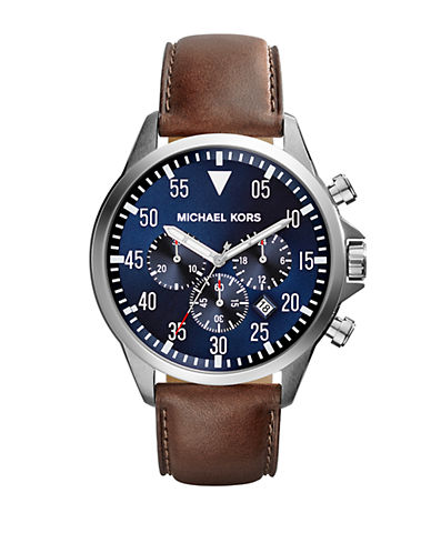 michael kors male 211468 gage silvertone chronograph watch