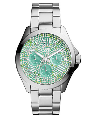 FOSSIL Ladies Cecile Stainless Steel Chronograph Watch with Glitz Dial