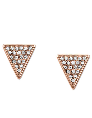 MICHAEL KORSRose Gold Tone Glitz Triangle Stud Earrings