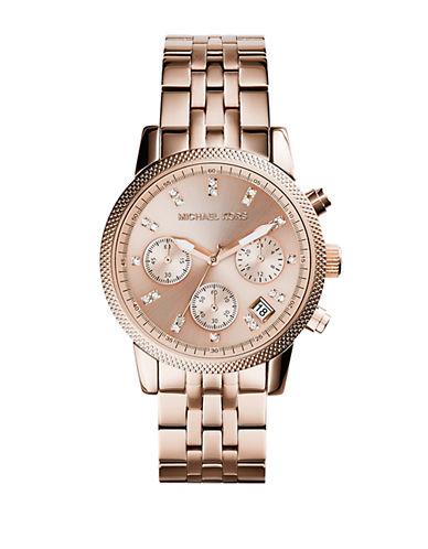 Michael Kors Ladies Ritz Rose Gold Tone Chronograph Watch