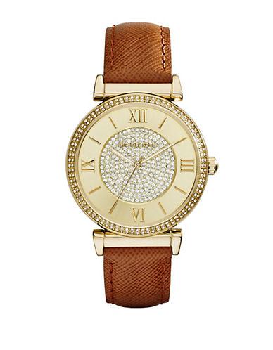 MICHAEL KORSLadies Caitlin Gold Tone Glitz Watch