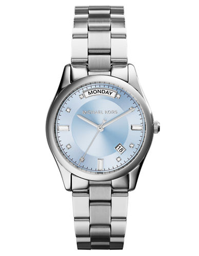 MICHAEL KORS Ladies Colette Stainless Steel Watch with Icy Blue Dial