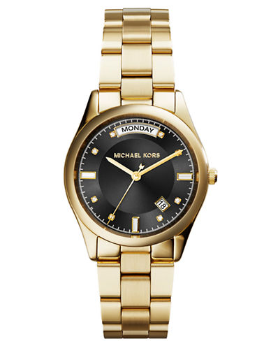 MICHAEL KORS Ladies Colette Gold Tone Stainless Steel Watch