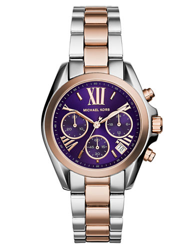 MICHAEL KORS Ladies Mini Bradshaw Two Tone Watch