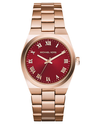 Michael Kors Ladies Channing Rose Gold Tone Watch