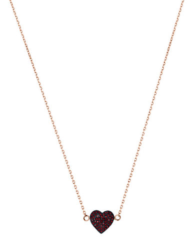 MICHAEL KORS Rose Gold-Tone and Siam Stone Heart Necklace