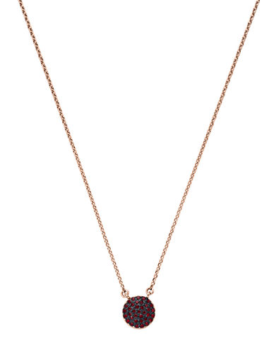 MICHAEL KORSTwo-Tone and Red Stone Disc Pendant Necklace
