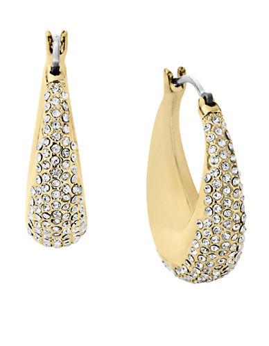 MICHAEL KORSGold Tone Clear Pave Hoop Earrings