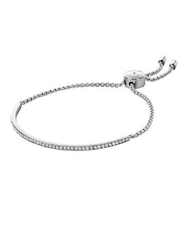 michael kors female 45900 silvertone and glitz bar bracelet