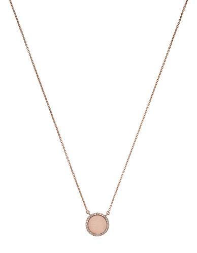 michael kors female  rose goldtone blush and pave pendant necklace