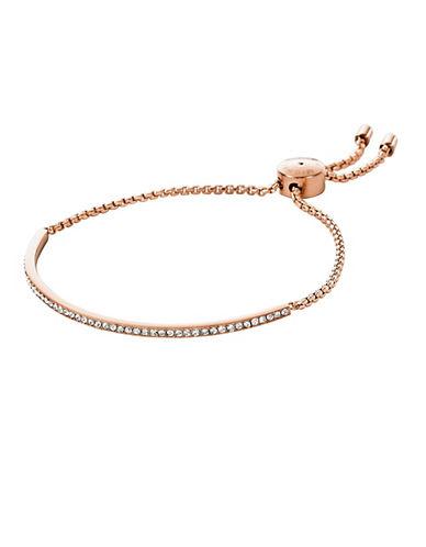 michael kors female 255807 rose goldtone and glitz bar bracelet