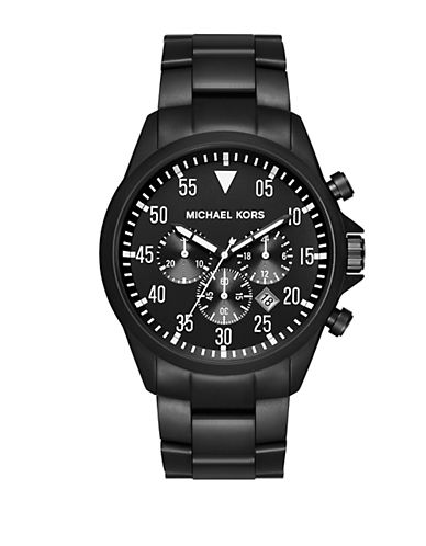 MICHAEL KORSGage Black IP and Stainless Steel Chronograph Watch