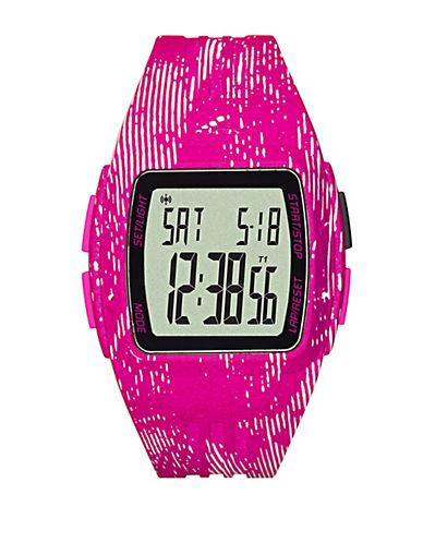 Unisex Graphic-Print Polyurthane LCD Sports Watch