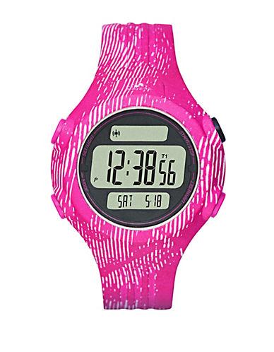 Graphic-Print Polyurthane LCD Sports Watch