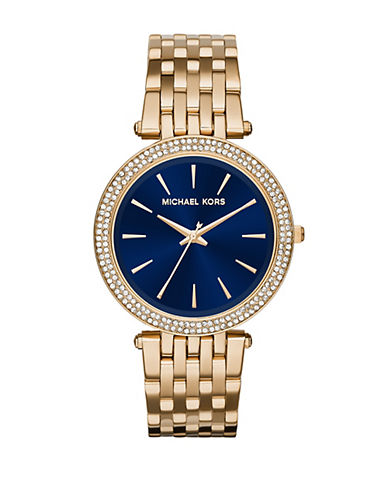 MICHAEL KORS Darci Goldtone Stainless Steel Link Bracelet Watch