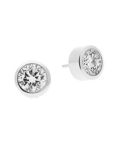 michael kors female 45900 roundcut cubic zirconia stud earrings