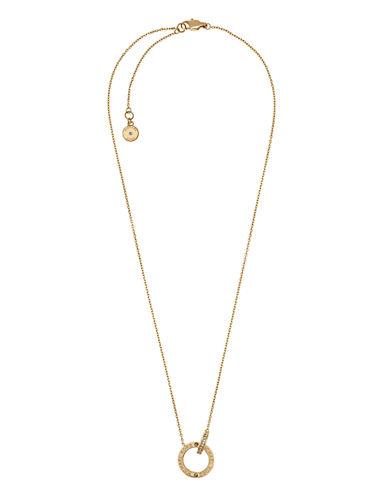 michael kors female 220183 goldtone logo ring pendant