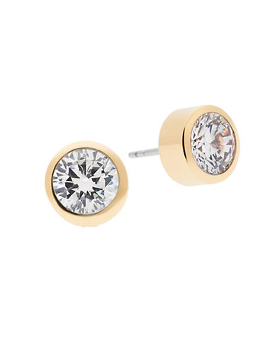 michael kors female 220183 round crystal stud earrings