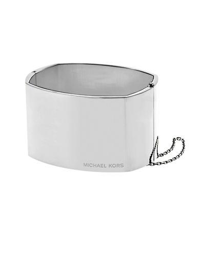 MICHAEL KORSEtched Logo Wide Cuff Bangle Bracelet