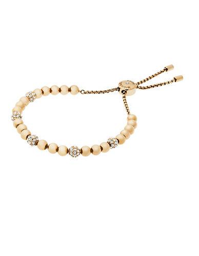 michael kors female 220183 brilliance beaded slider bracelet goldtone