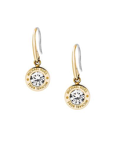 michael kors female 220183 glitzy logo drop earrings