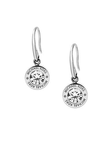 michael kors female 45900 brilliance logo drop earrings