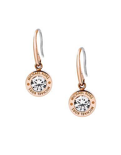 michael kors female 255807 glitzy logo drop earrings