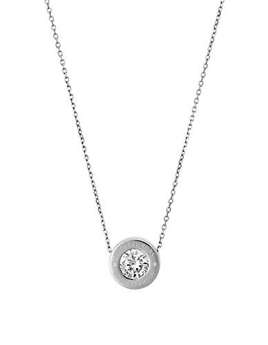 michael kors female 45900 glitzy signature pendant necklace