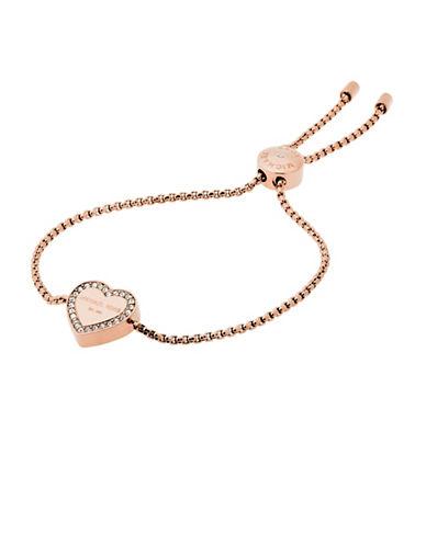 michael kors female 255807 heritage rose goldtone slider bracelet