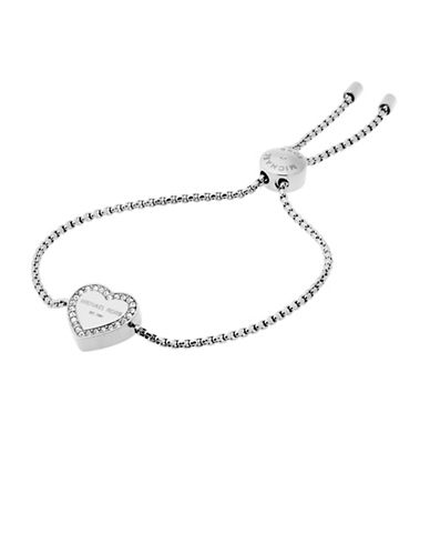 michael kors female 45900 heritage silvertone slider bracelet