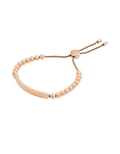 michael kors female 255807 rose goldtone beaded slider bracelet