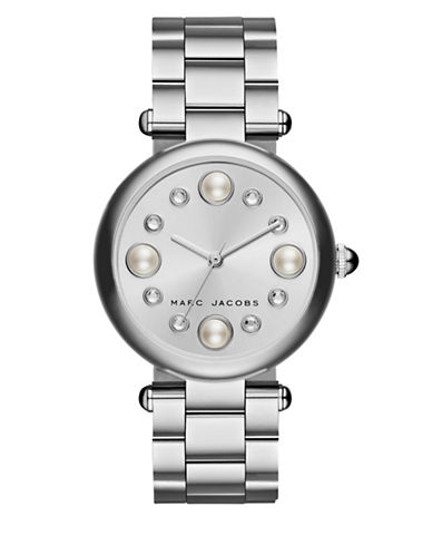 marc jacobs female dotty stainless steel bracelet watch