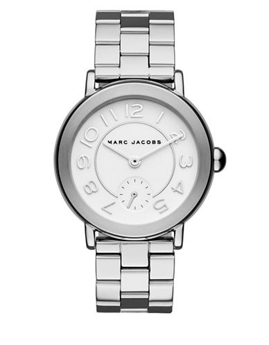 marc jacobs female riley stainless steel bracelet watch