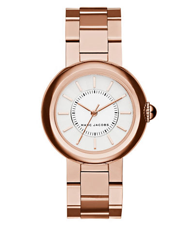 marc jacobs female 255807 courtney rose goldtone stainless steel bracelet watch