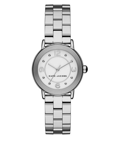 marc jacobs female riley stainless steel timepiece