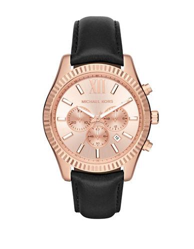 michael kors male lexington stainless steel chronograph strap watch