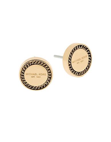 michael kors female 220183 chainaccented logo stud earrings
