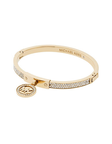 michael kors female goldtone hinge charm bracelet