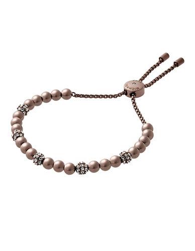 michael kors female brilliance paveacute beaded slide braceletsabletone