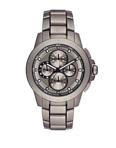 michael kors male ryker titanium threelink bracelet chronograph watch