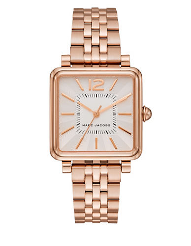 marc jacobs female vic rose goldtone stainless steel bracelet watch