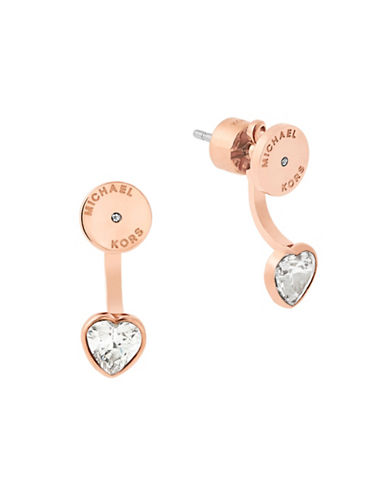 michael kors female modern brilliance rose goldtone stud earring