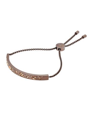 michael kors female modern brilliance pave crystal slider ip bracelet